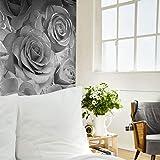 Muriva Madison glitterbehang fonkelen bloemen roos blaadjes geblazen vinyl bloemen. Full Roll zilver