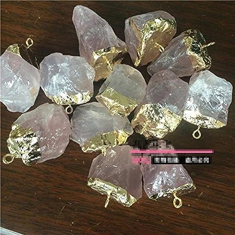 Natürlich Rosa Kristall Persönlichkeit Original-Vergoldete Kristallanhänger , 15-20/ powder crystal