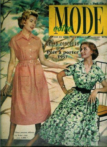 Votre Mode - n°525 - 14/03/1957 - Deux robes (couv.) / Nappe et napperon (patron)
