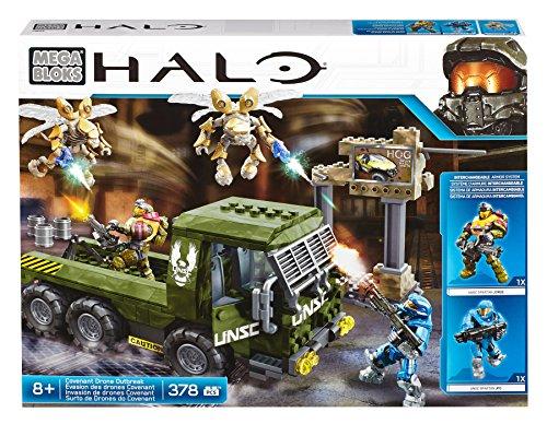 Mattel Mega Bloks CND03 Halo - Covenant Drone Outbreak (Halo Lego Spielzeug)