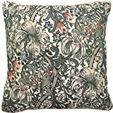 Dekoratives Bunt Zierkissenbezüge Kissenbezüg von Signare/ Tapisserie Doppelseitige Kissen Abdeckung Kissenhülle fur Sofa Auto Bett 45x45 cm/ Golden Lily William Morris CCOV-GLILY