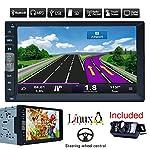 Coche Bluetooth GPS Navigation MP5 2 DIN 7 pulgadas de pantalla táctil auto radio receptor estéreo del vehículo Multimedia PC Sistema No-DVD con la cámara del revés HD