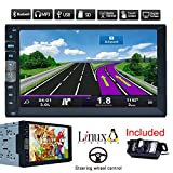 Bluetooth GPS di navigazione auto MP5 Player 2 din 7 pollici autoradio stereo Touch Screen Receiver veicolo PC multimediale Sistema No-DVD con HD macchina fotografica d'inversione