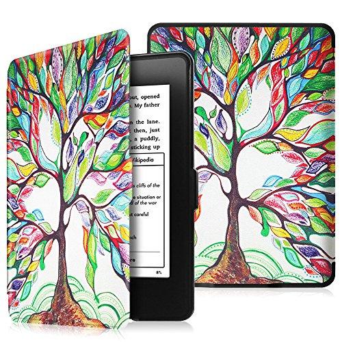 Fintie Hülle für Kindle Paperwhite - Die dünnste und leichteste Schutzhülle mit auto Sleep / Wake Funktion (Nicht geeignet für das Modell der 10. Generation 2018), Liebesbaum