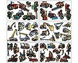 46 Set Ruspa trattore trattore macchinari per costruzioni Gru Camion da parete adesivo adesivi, multicolore, 6x 16x26cm