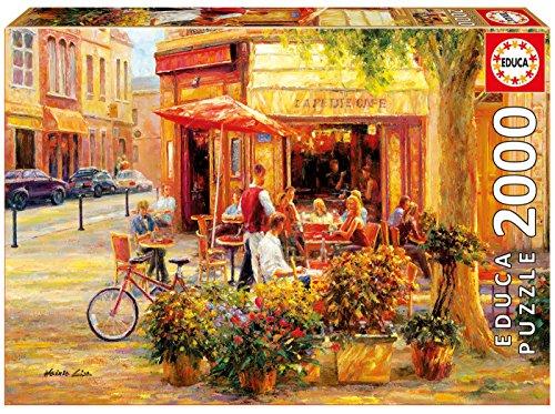 Educa Borrás - 17130.0 - Puzzle - Corner Café - Haixia Liu - 2000 Pièces