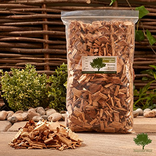 Gwernyfed Wood Smoking/Smoker Wood Chips 3 Litre - Kiln Dried Woodchips for Smoking Food/Smokers/BBQ's/Ovens/Smoking tins - Fast FREE delivery