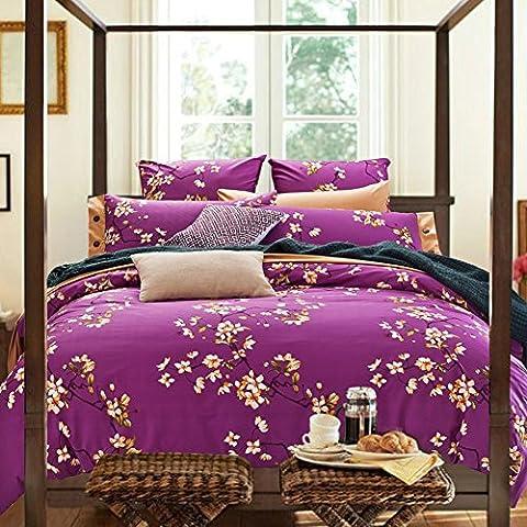 200TC European style 100% cotton flower pattern Duvet Cover Set