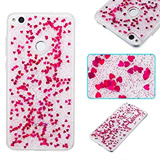 adorehouse Phone Case Compatible with Huawei P8 Lite 2017 Case Carry Case Surface Back Bumper Cover [ Rosy ]