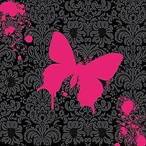 Nintendo DS Case Skin Sticker aus Vinyl-Folie Aufkleber Schmetterling Butterfly Pink