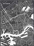 Poster 30 x 40 cm: Rotterdam Niederlande Karte von Main