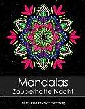 Malbuch für Erwachsene: Mandalas auf schwarzem Hintergrund