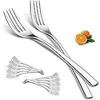 Fourchettes à Dîner, Elegant Life 12 pièces de Fourchette en Acier Inoxydable, pour Steak Viande Salade, Fourchettes à…