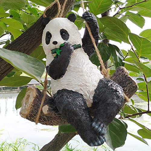 OYBB Ornaments Statues Panda Small Animals Swinging Sky Hanging Shop Mall Garden Garden Decoration Branch Wall Ceiling HangingHeight 32Cm