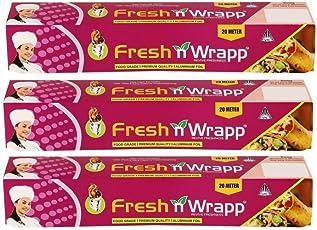 Fresh N Wrapp 20M Combo of 3 Food Grade Aluminium Foil