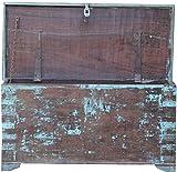 Guru-Shop Cofre de Madera de Madera Maciza en la Mirada de la Vendimia JH17-067, 46x90x40 cm,...