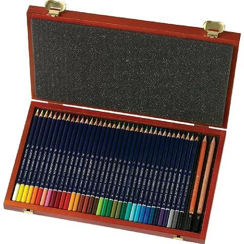 Alpino - Caja con 36 lápices acuarelable y 2 lápices (Massats AL000160)