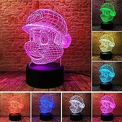 Idea Regalo - Creativa 3D popolare illusione di Maria illusione Lampada LED Night Light Colorful Gradient Atmosphere Novità regalo di compleanno regali lampada