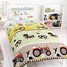 Appletree - Juego de funda de edredón y funda de almohada para capa infantil (135 x 200 cm y 50 x 75 cm)