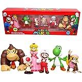 CYSJ Super Mario Cake Topper 6 pcs Super Mario Figuras Decoración para Tarta de cumpleaños de Animales de Dibujos Animados De