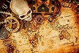 azutura Vintage Schatzkarte Fototapete Pirat Tapete Jungen Schlafzimmer Haus Dekor Erhältlich in 8 Größen Riesig Digital
