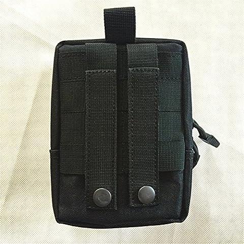 Qearly Outdoor Tactical Waist Bag First Aid Kit Erste Hilfe Tasche-Schwarz