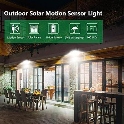 Luci Solari da Esterno 100 LED,Luposwiten Lampade Solari a Led da ...