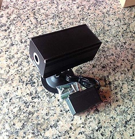 12V 80mw 532nm High Power Industrial Green Fat Beam Laser Dot Module w/Adapter