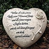 Grabherz mit Inschrift - Wenn Liebe einen Weg zum Himmel