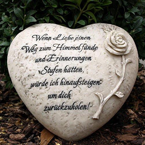 Grabherz mit Inschrift - Wenn Liebe einen Weg zum Himmel fände. Durchmesser 18cm