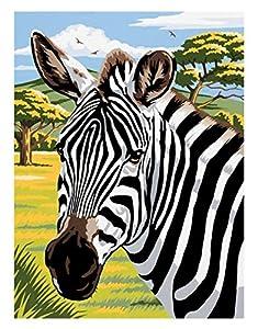 Mammut 105.101 - Pintura por Números - Zebra, Alrededor de 30,4 x 22,8 cm