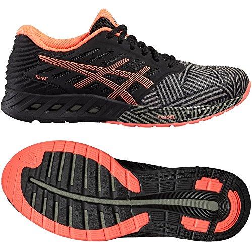 Asics Fuzex, Chaussures de Running Compétition Femme aluminum-flash coral-black