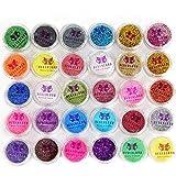 Neverland beauty 30Pcs Mixed Colors Powder Pigment glitter Mineral Spangle Eyeshadow makeup nail art viso e corpo