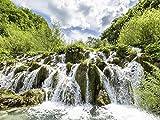 Artland Wandbilder selbstklebend aus Vliesstoff oder Vinyl-Folie Andre Hauschild Wasserkaskaden Landschaften Gewässer Wasserfall Fotografie Grün B5VR