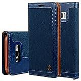 Flip Cover Tasche Handytasche Handyhülle Samsung Galaxy S8 Handyschale Klapptasche Magnetverschluss Wallet, Blau