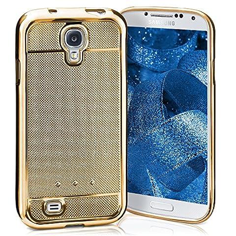 Samsung Galaxy S4 Hülle Glitzer Silikon Gold [OneFlow Glossy Back-Cover] Chrom Silikonhülle Ultra-Slim Schutzhülle Glitter Handy-Hülle für Samsung Galaxy S4 / S IV Case
