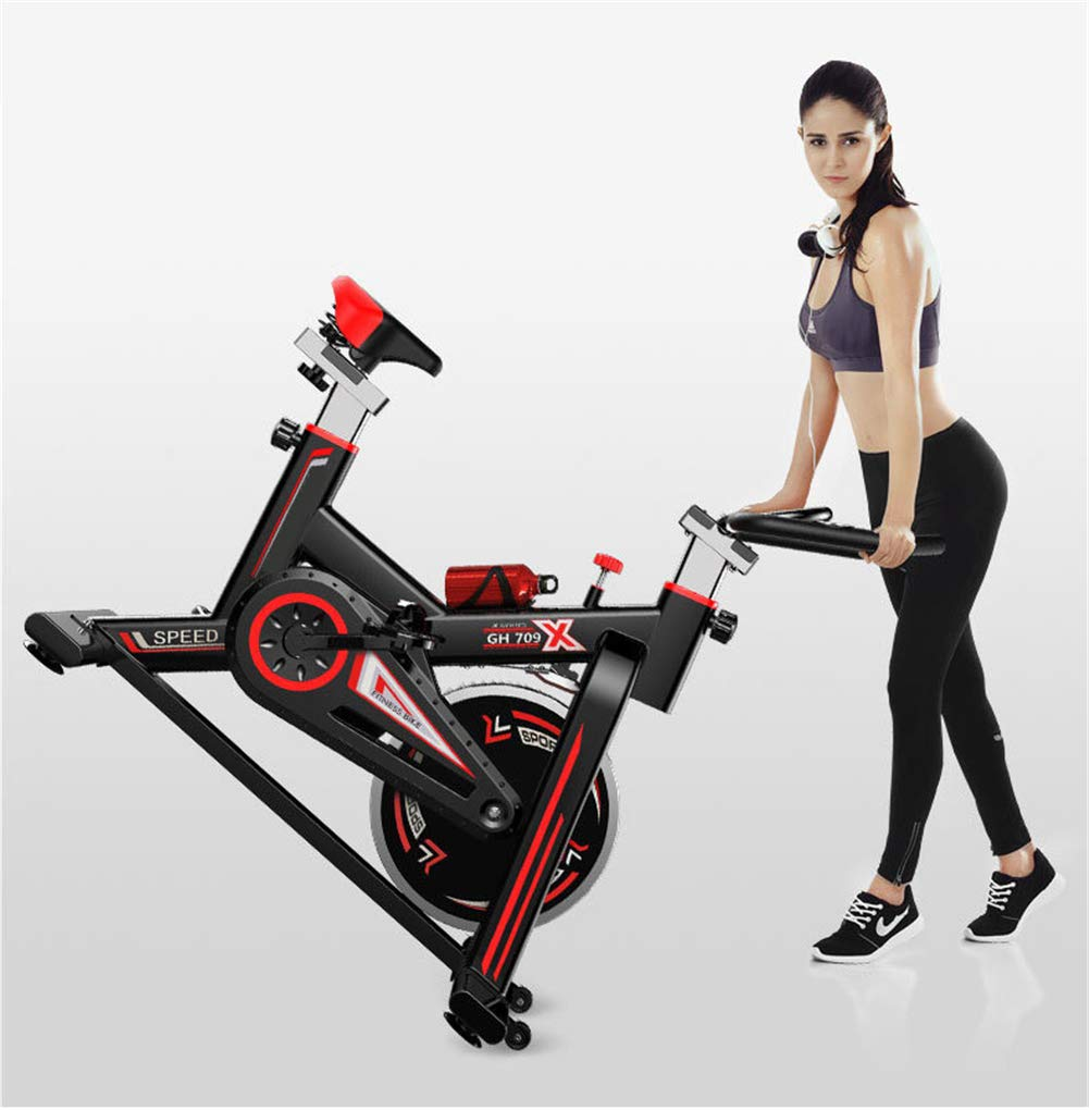 61XmEW5PTdL - Lcyy-Bike Bicycle Trainers Manual Adjustable Resistance 6 Kg Flywheel Cardio Adjustable Handlebars & Seat Height