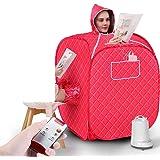 Bärbar ångbastu ångkokare, lättviktigt tält, en person helkropps-spa för viktminskning deoxterapi (färg: B)