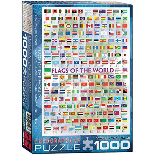 Eurographics Puzzle 1.000 Teile Flaggen der Welt 00128