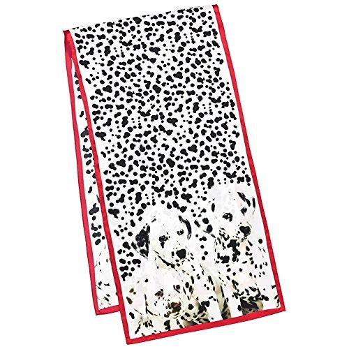 VON LILIENFELD Seidenschal lang, (Satin) (Kostüme Dalmatiner Welpe)