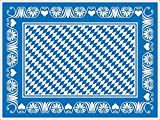 Sovie HORECA Oktoberfest-Deko Tischset | Bavaria Raute | 40x30 cm 100 STK | Linclass® Airlaid | Wiesn Festzelt Bayrisch (Blau)