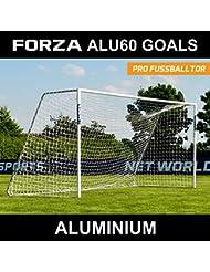 FORZA Alu60 Aluminium Fußballtor mit Netz (1,8m x 1,2m >>> 7,3m x 2,4m) [Net World Sports]