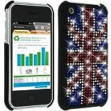 Mocca Design Strass Coque pour iPhone 3G Drapeau d'Angleterre