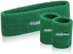 SWECOMZE Schweißband Set 3 Stück Sport Baumwoll Stirnband und Armbänder für Athletische Männer und Damen