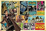 Doctor Who Comic Strip Collage Cover Art Sci Fi British TV Television Show - Best Reviews Guide