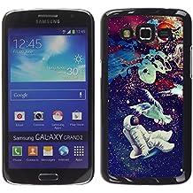 // PHONE CASE GIFT // Duro Estuche protector PC Cáscara Plástico Carcasa Funda Hard Protective Case for Samsung Galaxy Grand 2 / Psychedelic Espacio Astronauta Paloma /