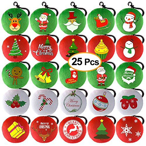 KUUQA 25 Piezas Navidad Felpa Almohada Llavero árbol