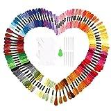 SOLEDI Stickgarn Embroidery Floss multifarben weicher Baumwolle perfekt für Friendship Bracelets Freundschaftsbänder Kit Stickerei Basteln Leisure Arts Kreuzstich Embroidery Threads Nähgarne Häkeln 8m (zufällige Farbe) (100 Farben)