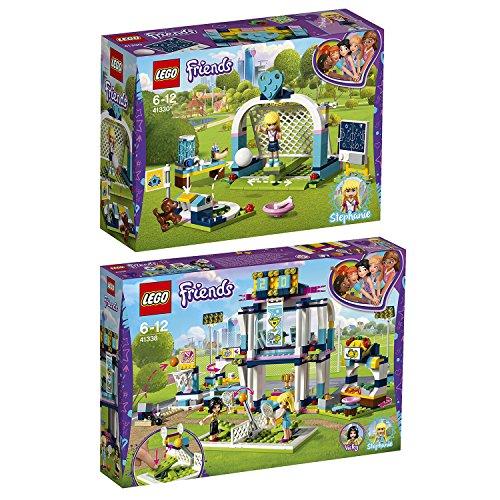 Lego Friends Freizeitpark 2er Set 41330 41338 Fußballtraining mit Stephanie + Stephanies Sportstadion (Friends-fußball-set Lego)
