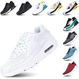 Scarpe Ginnastica Donna Sneakers Uomo Corsa Running Respirabile Mesh Casual All'Aperto Sportive Allacciare Calzature Basse Ne